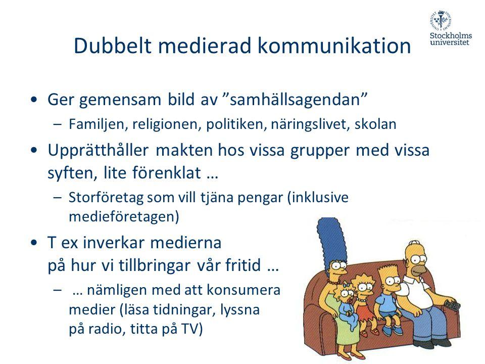 Dubbelt medierad kommunikation
