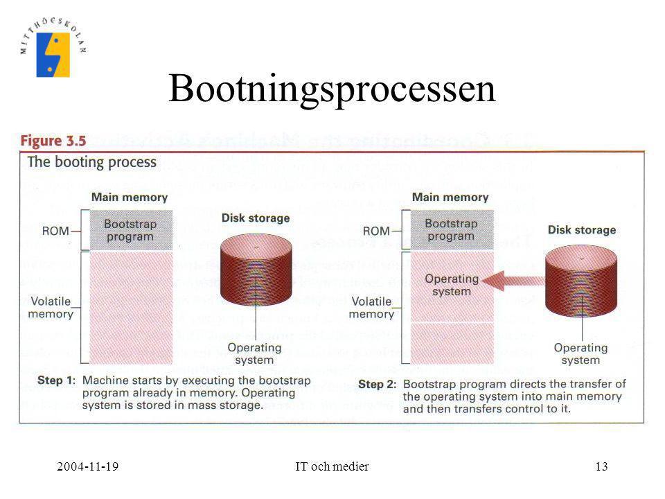 Bootningsprocessen 2004-11-19 IT och medier