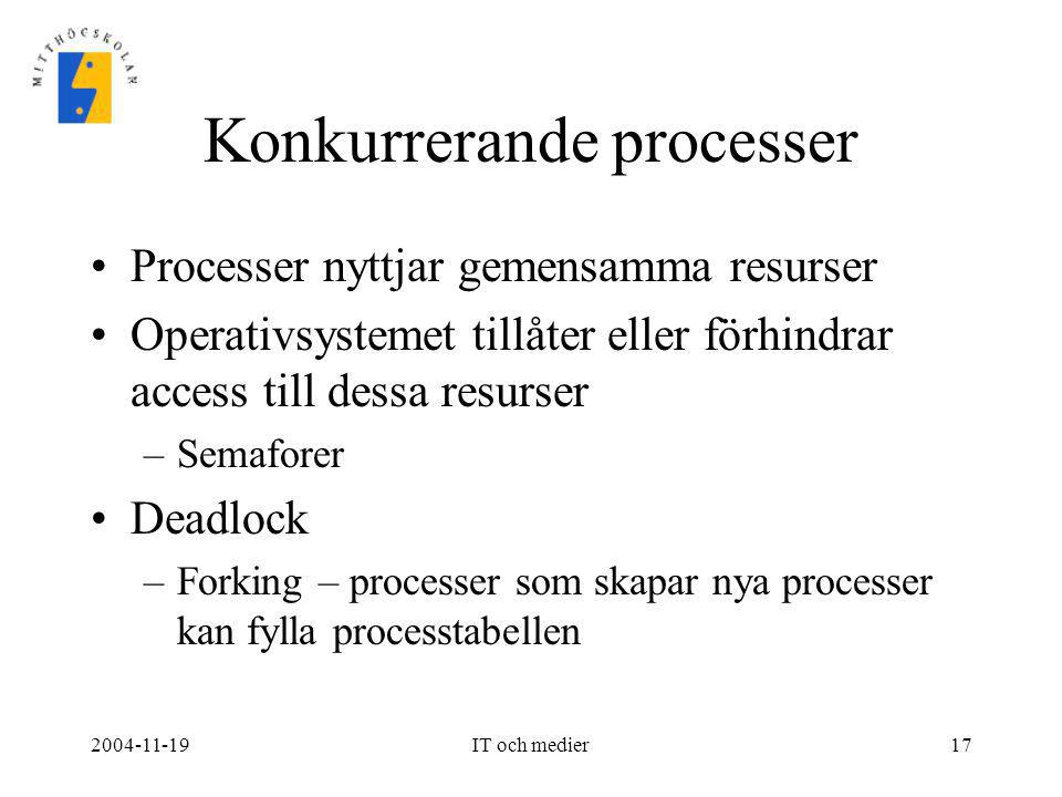 Konkurrerande processer