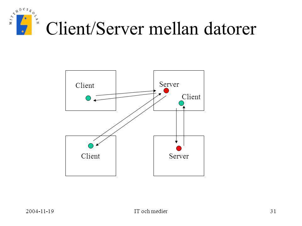 Client/Server mellan datorer