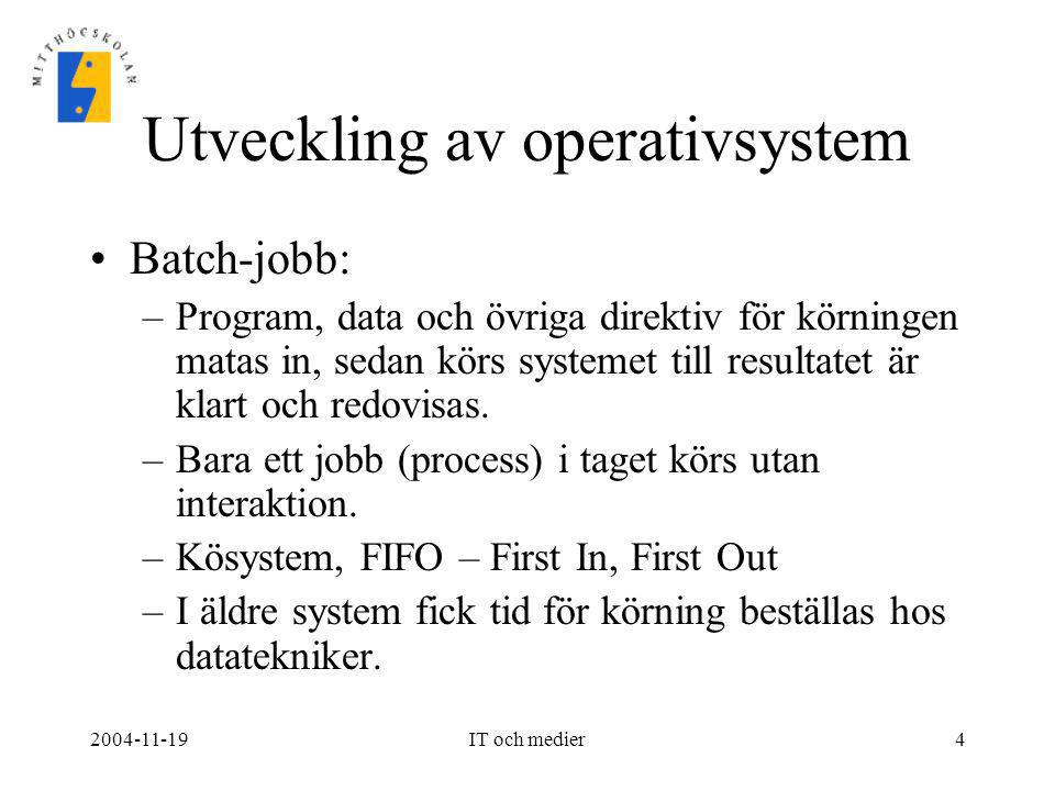 Utveckling av operativsystem