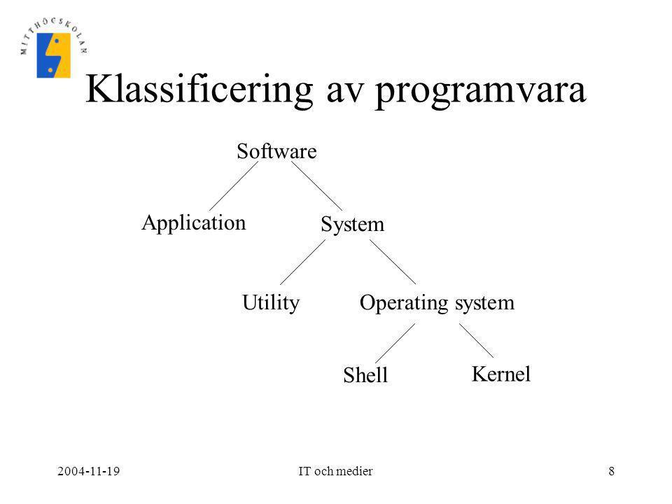 Klassificering av programvara