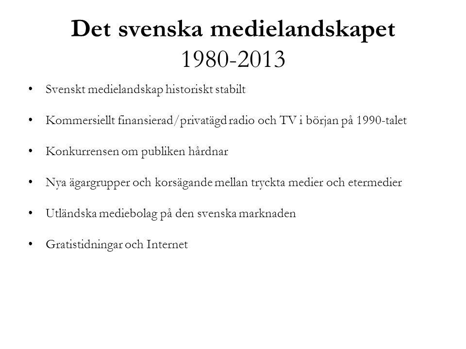 Det svenska medielandskapet 1980-2013