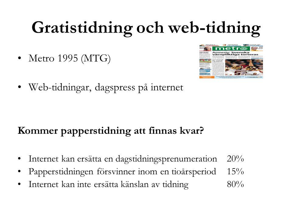Gratistidning och web-tidning
