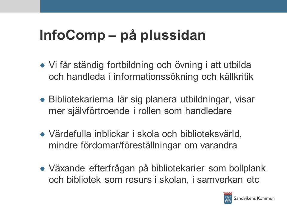 InfoComp – på plussidan