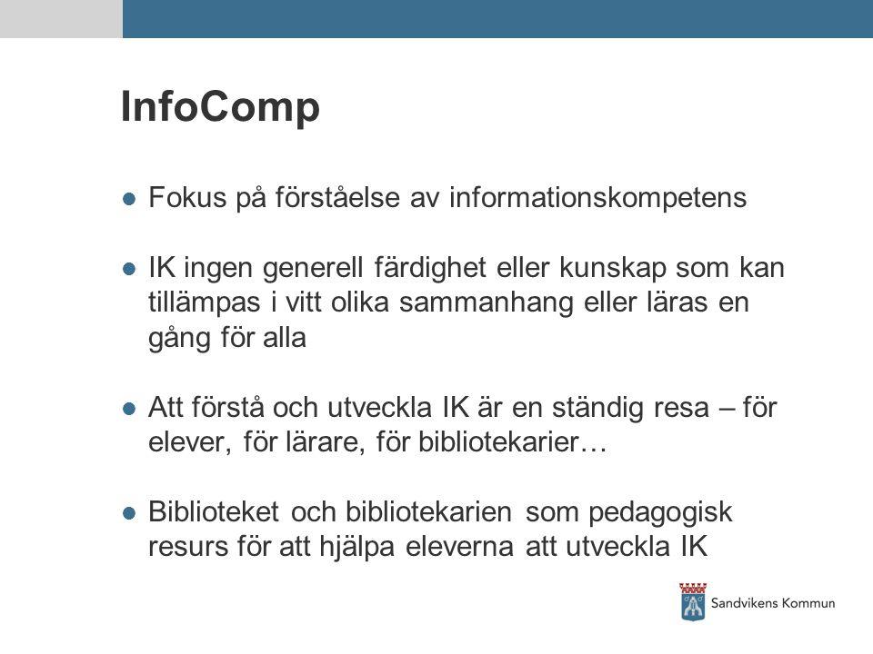 InfoComp Fokus på förståelse av informationskompetens