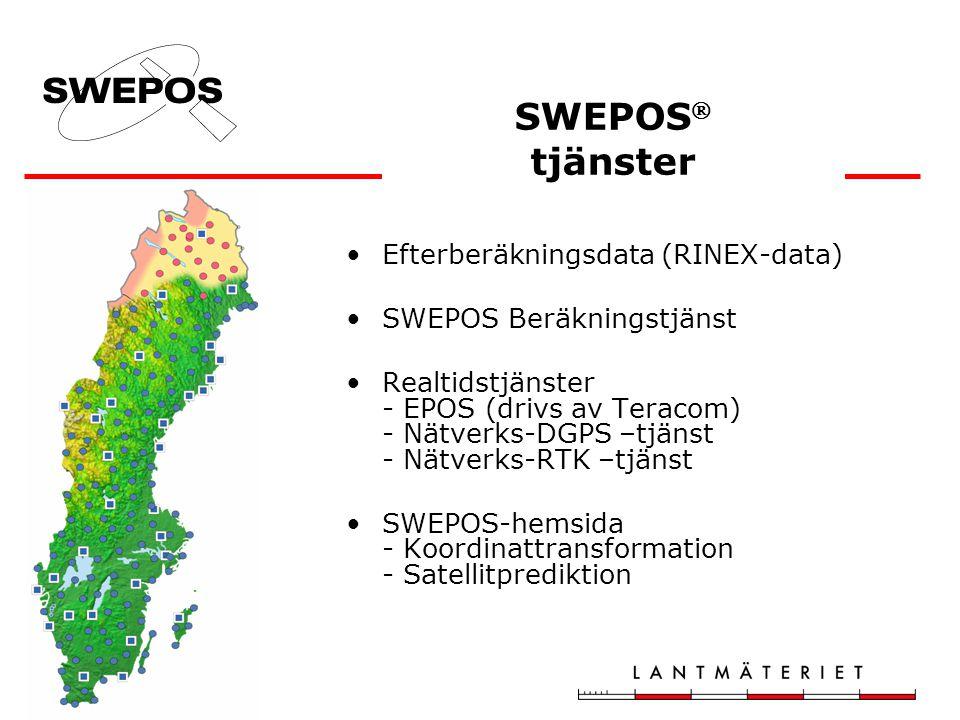 SWEPOS tjänster Efterberäkningsdata (RINEX-data)