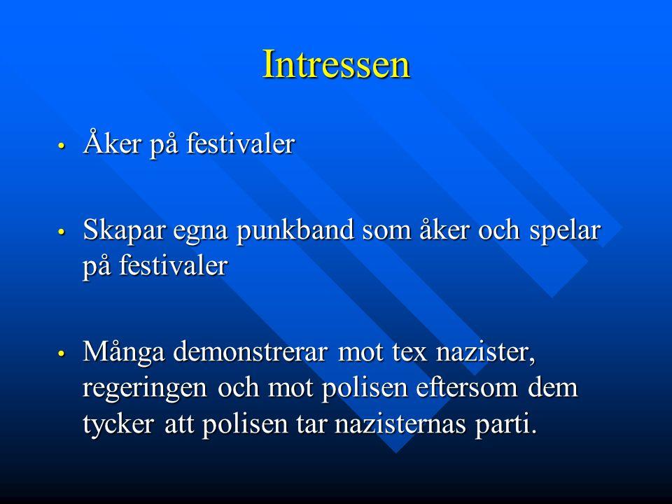 Intressen Åker på festivaler