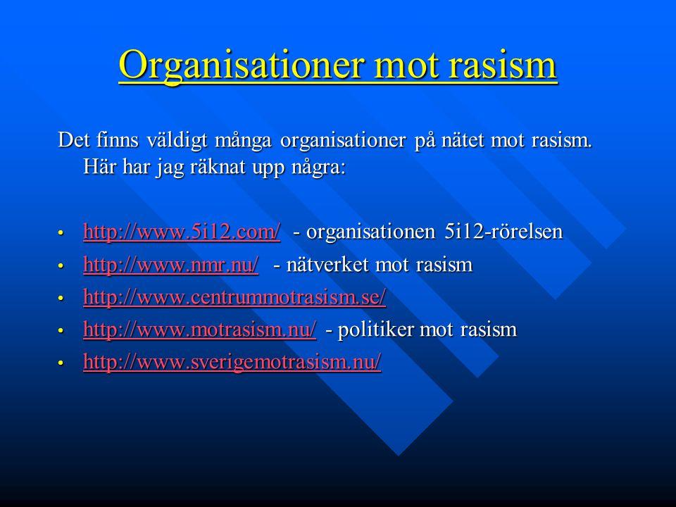 Organisationer mot rasism