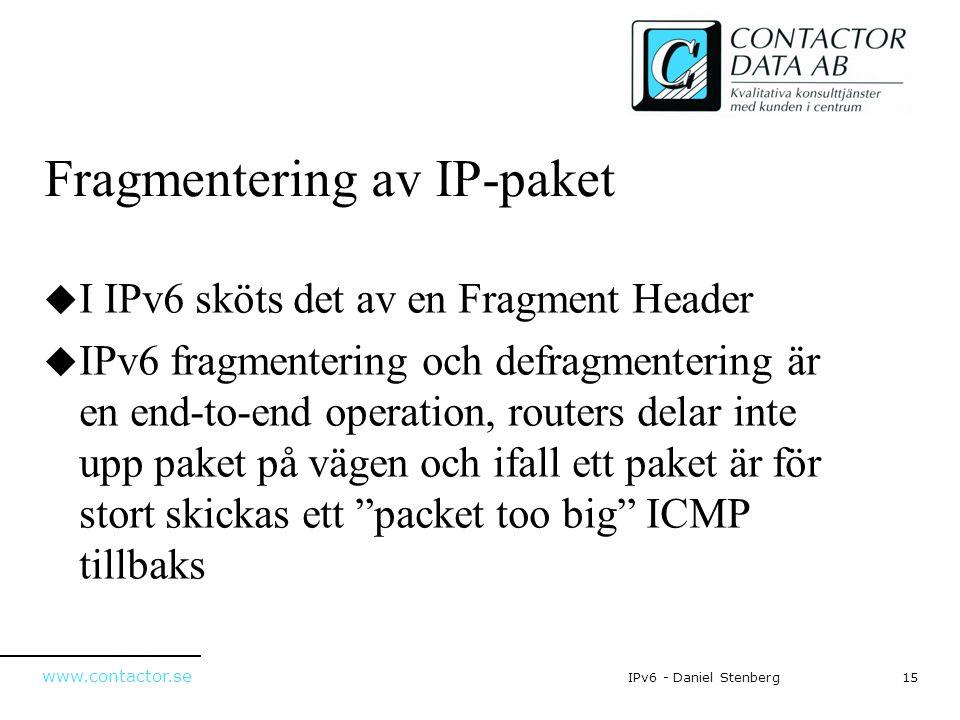 Fragmentering av IP-paket