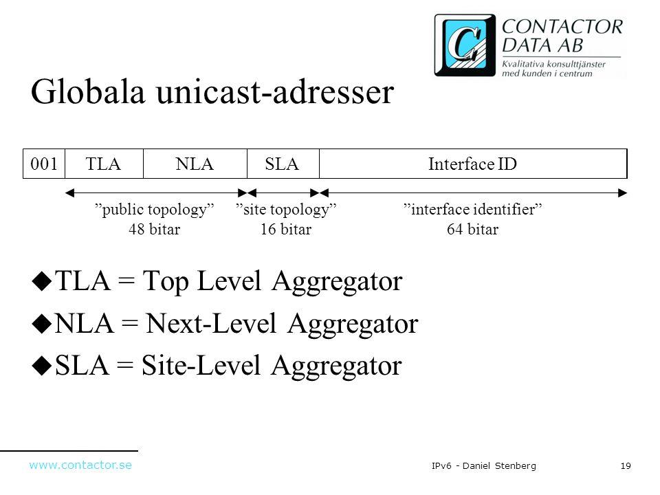 Globala unicast-adresser
