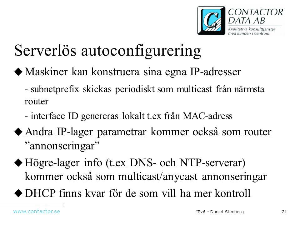 Serverlös autoconfigurering