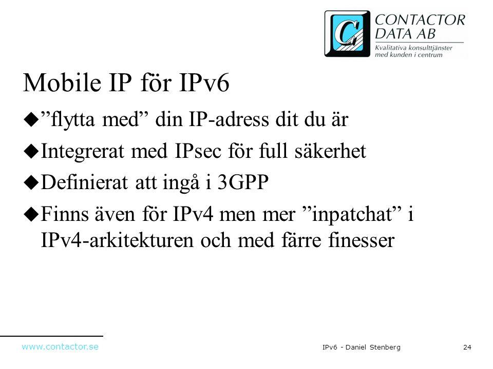 Mobile IP för IPv6 flytta med din IP-adress dit du är