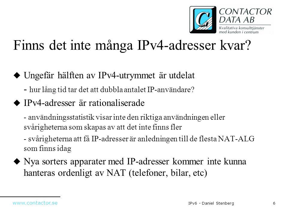 Finns det inte många IPv4-adresser kvar