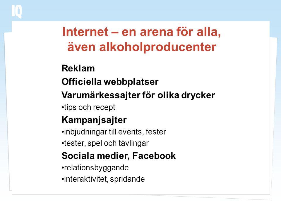 Internet – en arena för alla, även alkoholproducenter