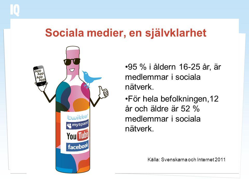 Sociala medier, en självklarhet