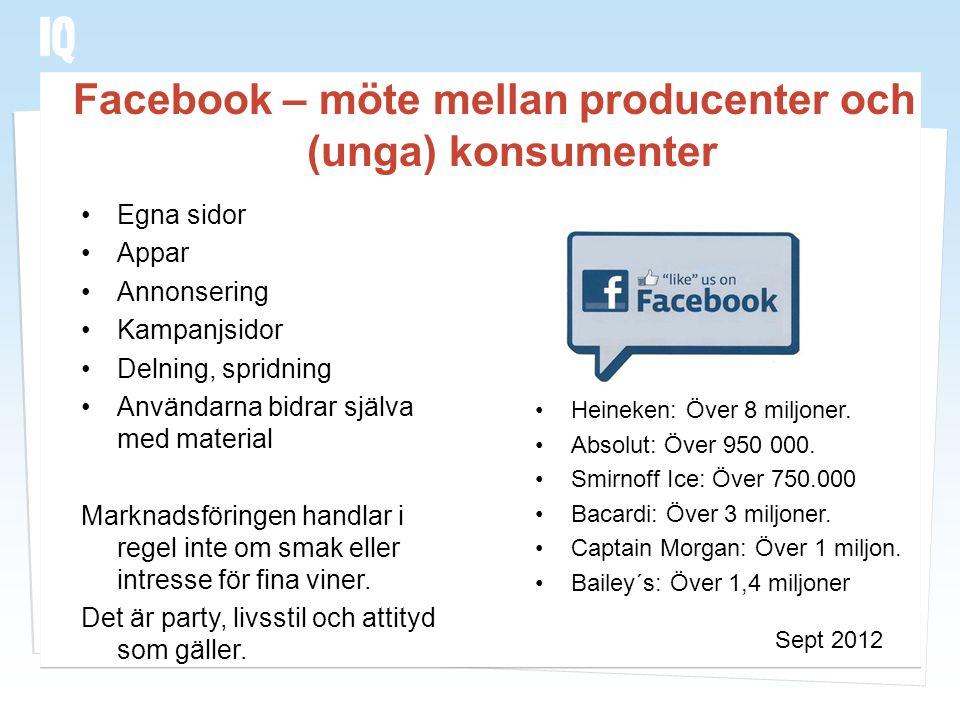 Facebook – möte mellan producenter och (unga) konsumenter