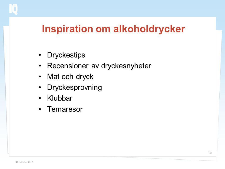 Inspiration om alkoholdrycker