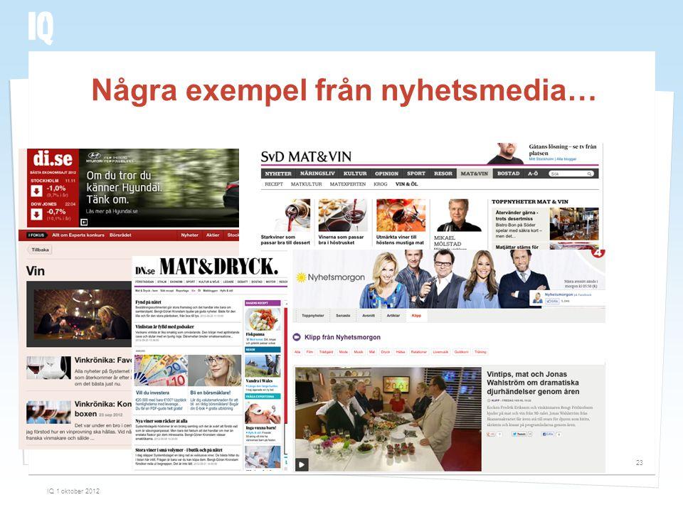 Några exempel från nyhetsmedia…