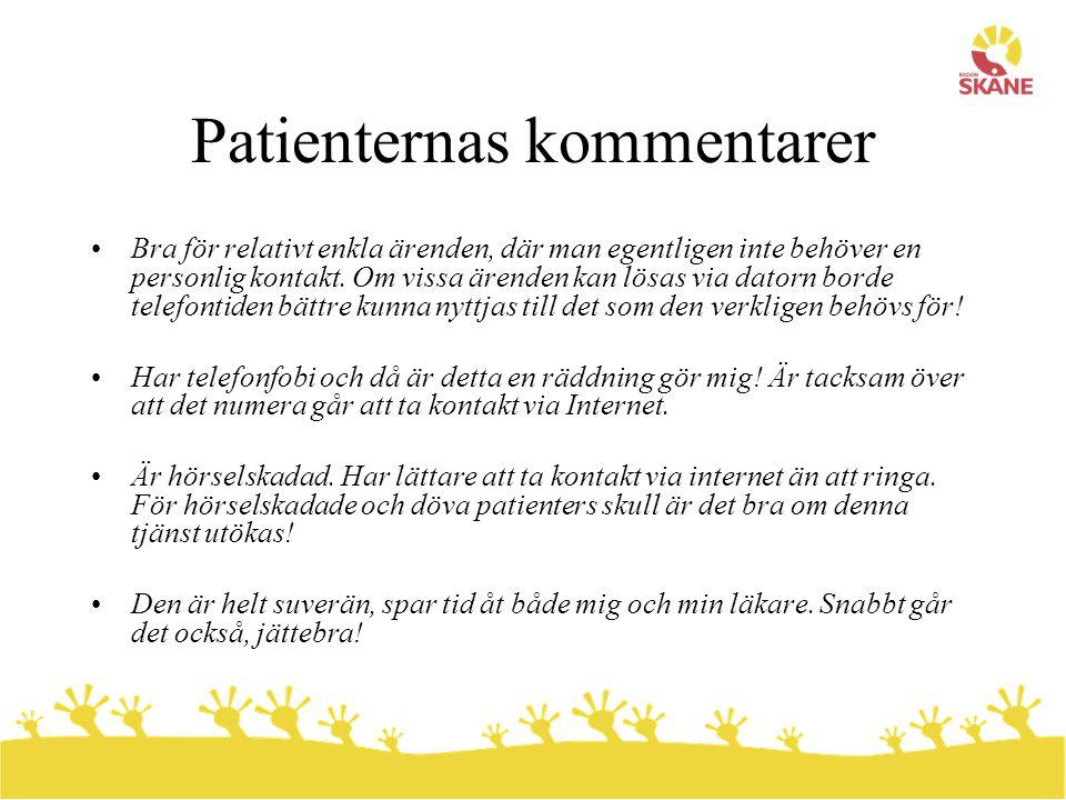 Patienternas kommentarer