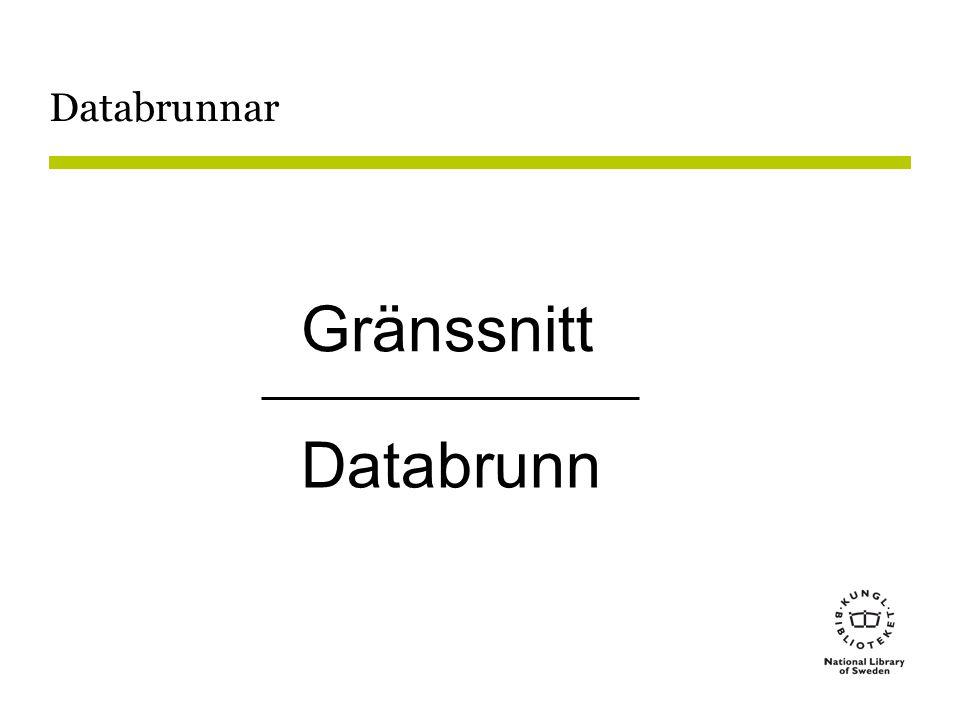 Databrunnar Gränssnitt Databrunn