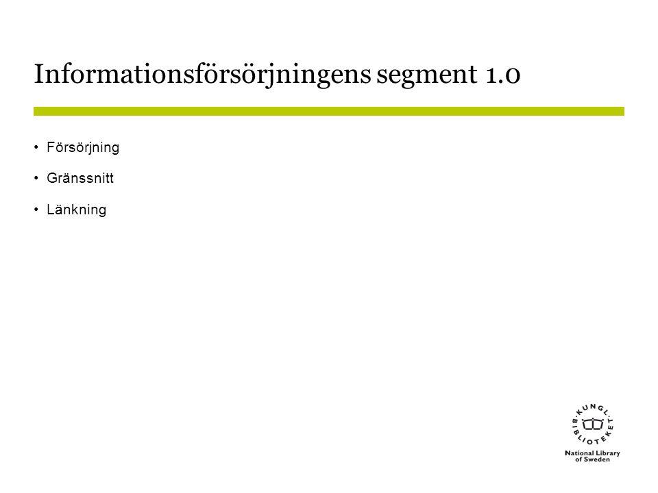 Informationsförsörjningens segment 1.0