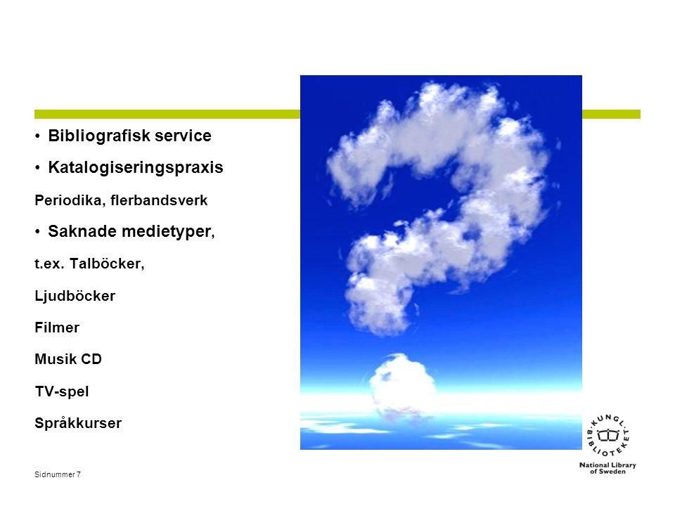 Bibliografisk service Katalogiseringspraxis