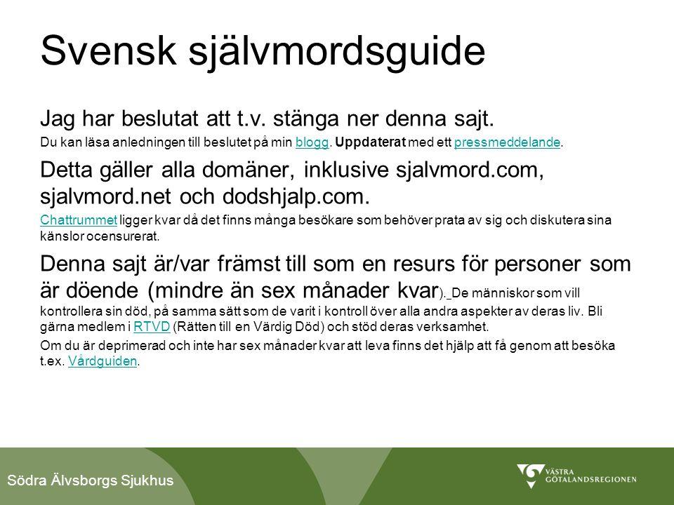 Svensk självmordsguide