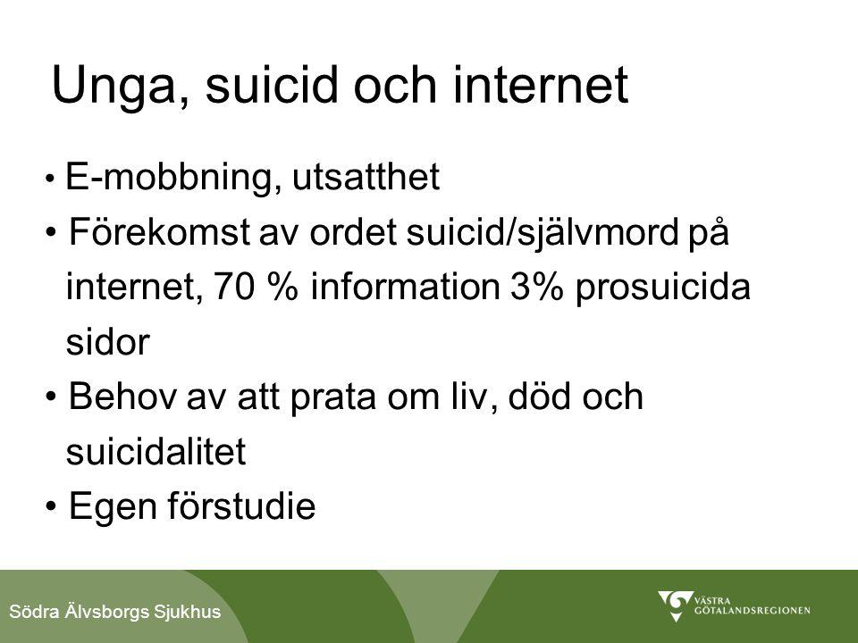 Unga, suicid och internet