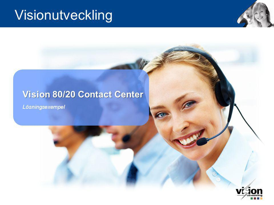 Vision 80/20 Contact Center Lösningsexempel