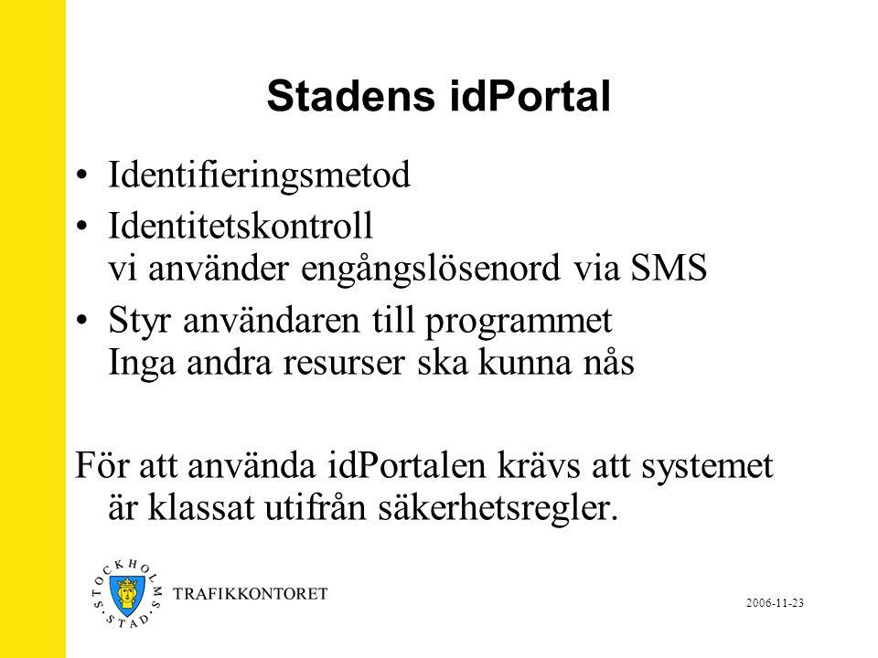 Stadens idPortal Identifieringsmetod