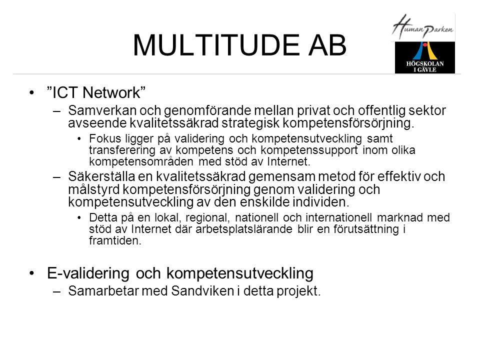 MULTITUDE AB ICT Network E-validering och kompetensutveckling