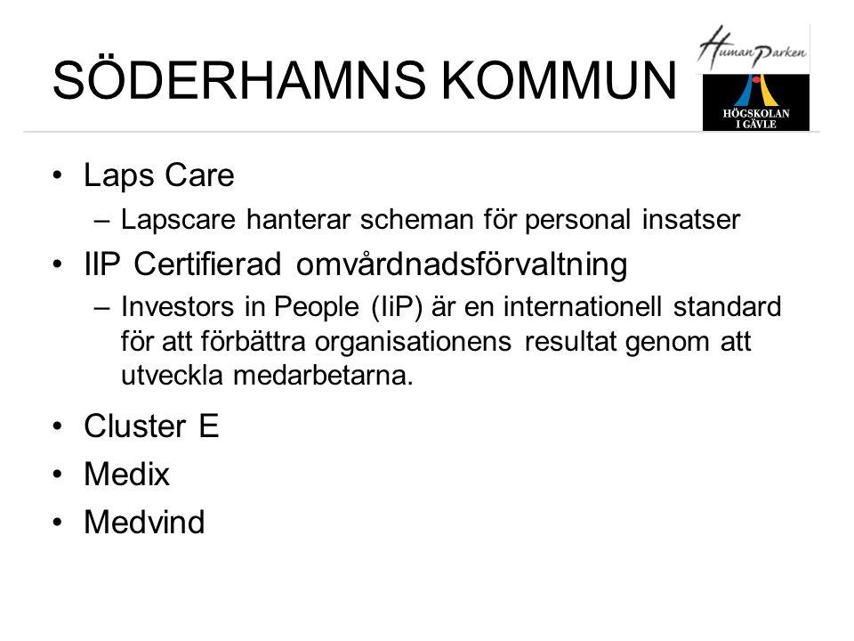 SÖDERHAMNS KOMMUN Laps Care IIP Certifierad omvårdnadsförvaltning