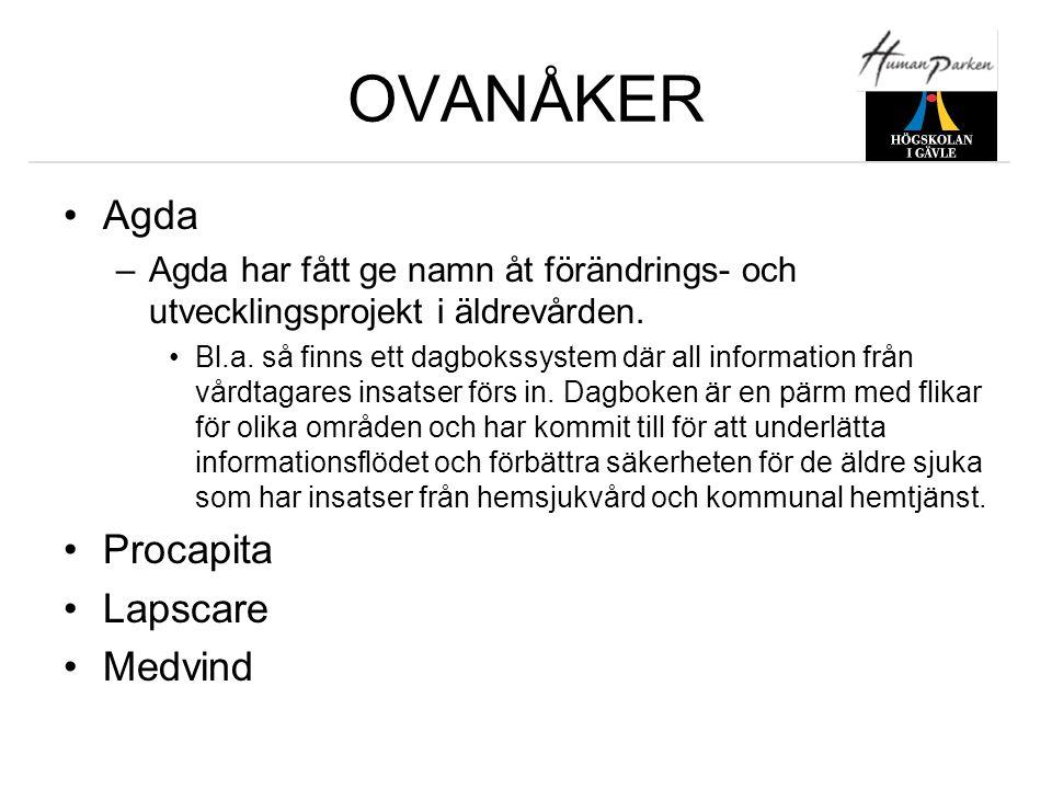 OVANÅKER Agda Procapita Lapscare Medvind