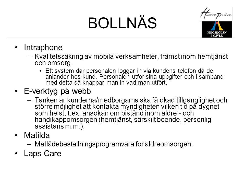 BOLLNÄS Intraphone E-verktyg på webb Matilda Laps Care