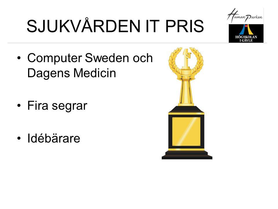 SJUKVÅRDEN IT PRIS Computer Sweden och Dagens Medicin Fira segrar