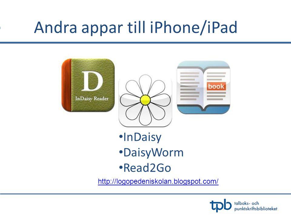 Andra appar till iPhone/iPad