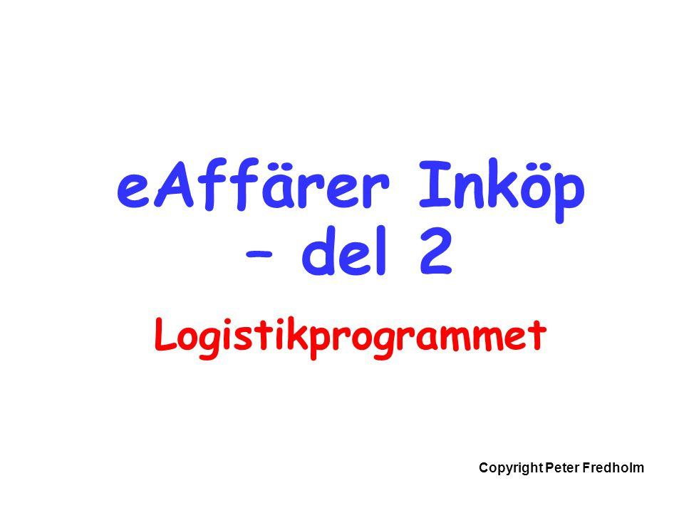 eAffärer Inköp – del 2 Logistikprogrammet