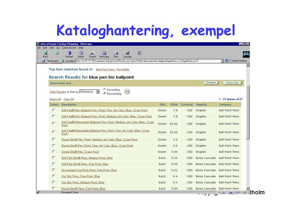 Kataloghantering, exempel