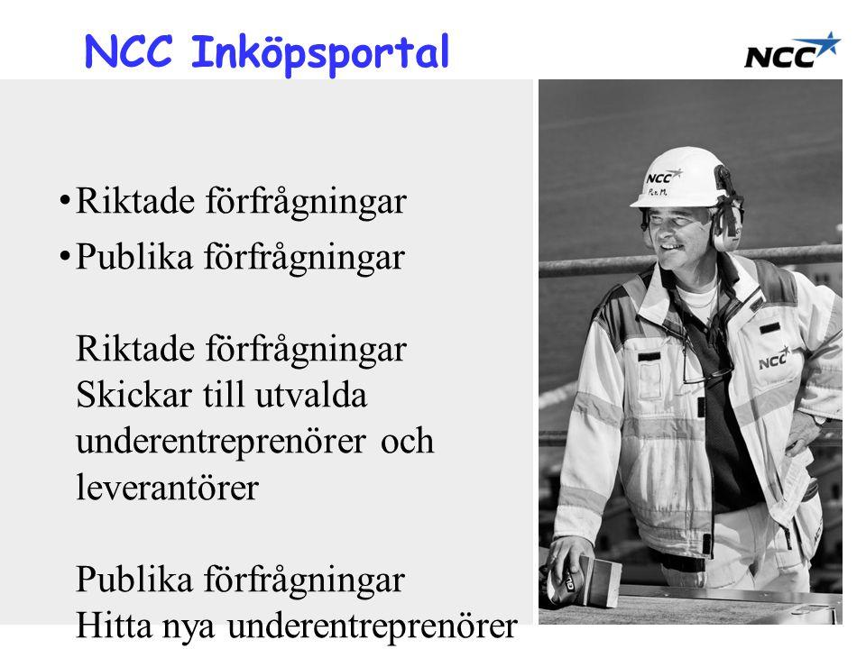 NCC Inköpsportal Riktade förfrågningar