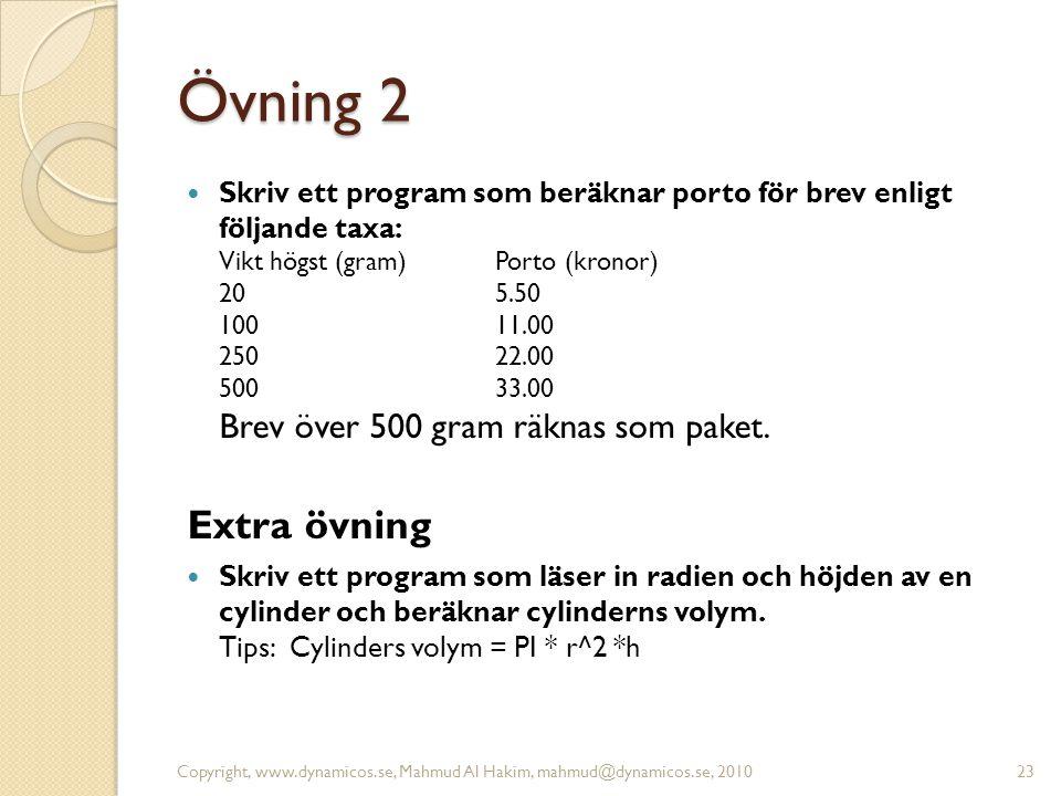 Övning 2