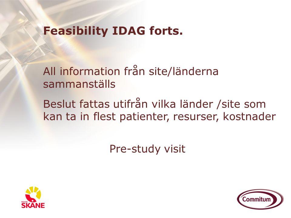 Feasibility IDAG forts.