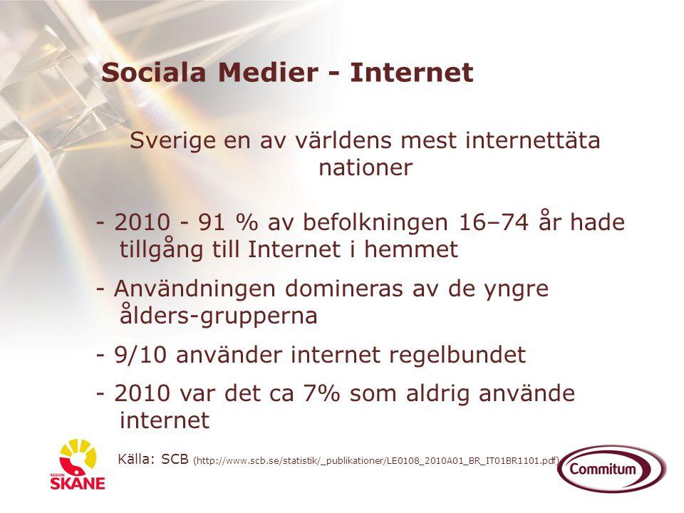 Sverige en av världens mest internettäta nationer
