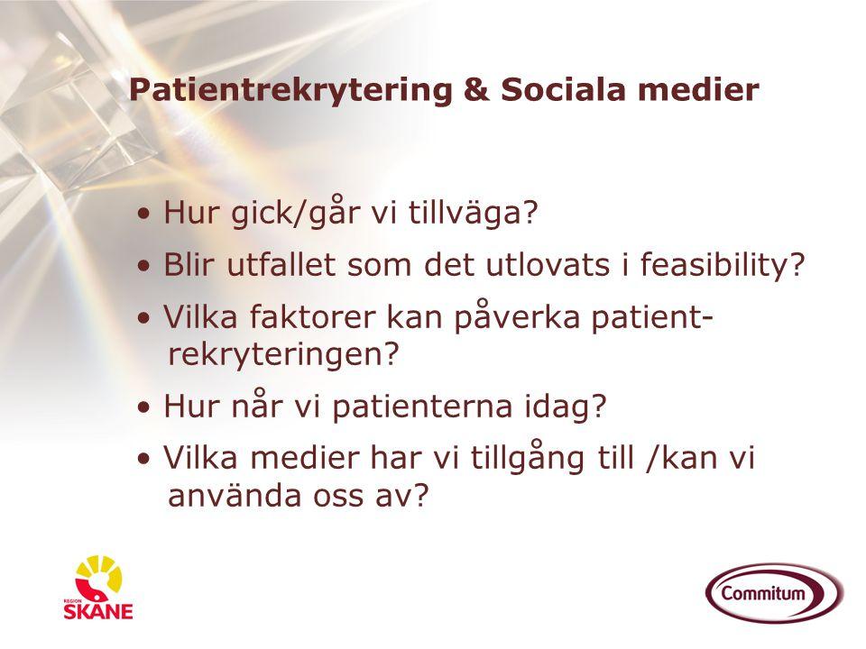 Patientrekrytering & Sociala medier