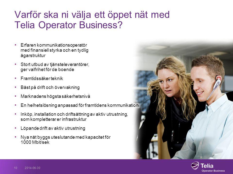 Varför ska ni välja ett öppet nät med Telia Operator Business