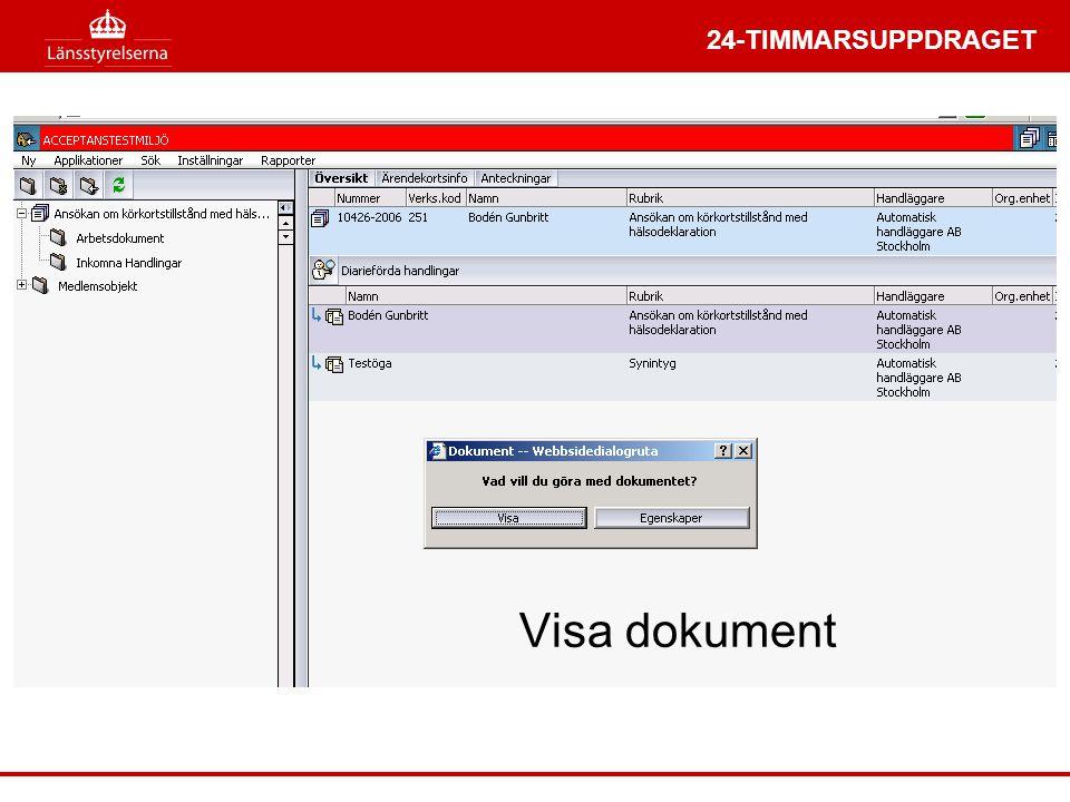 Visa dokument