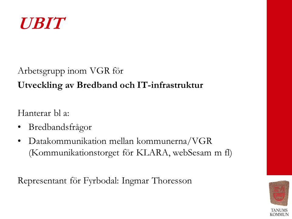 UBIT Arbetsgrupp inom VGR för
