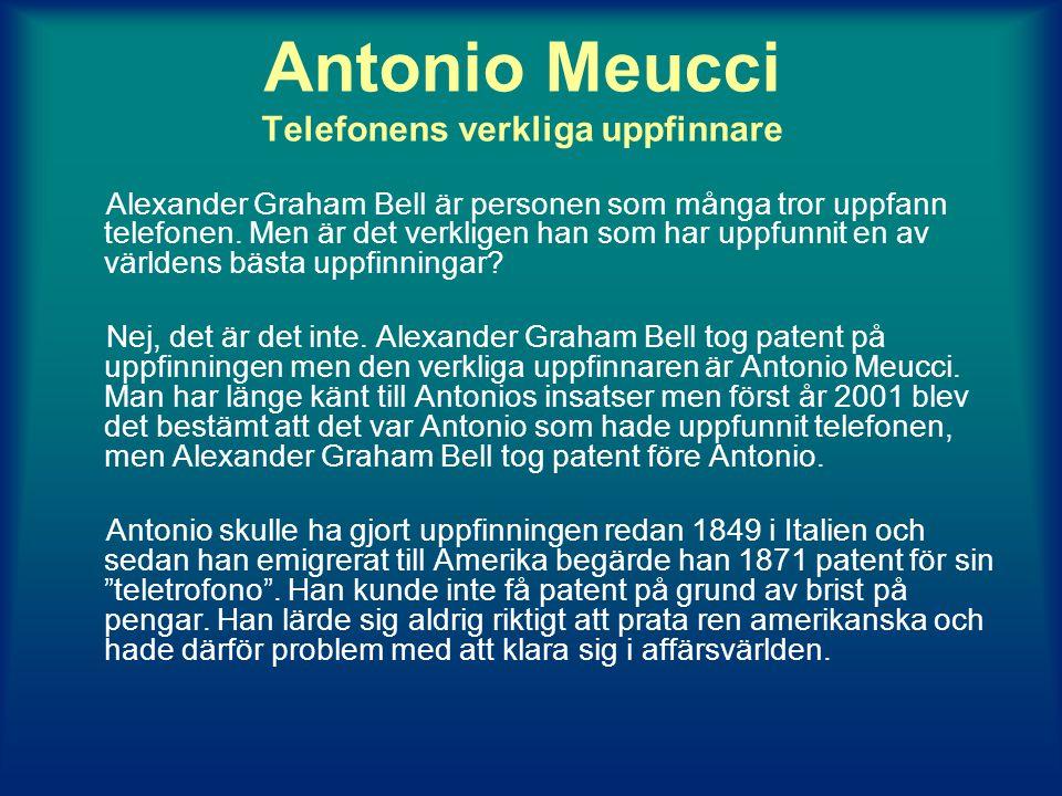 Antonio Meucci Telefonens verkliga uppfinnare