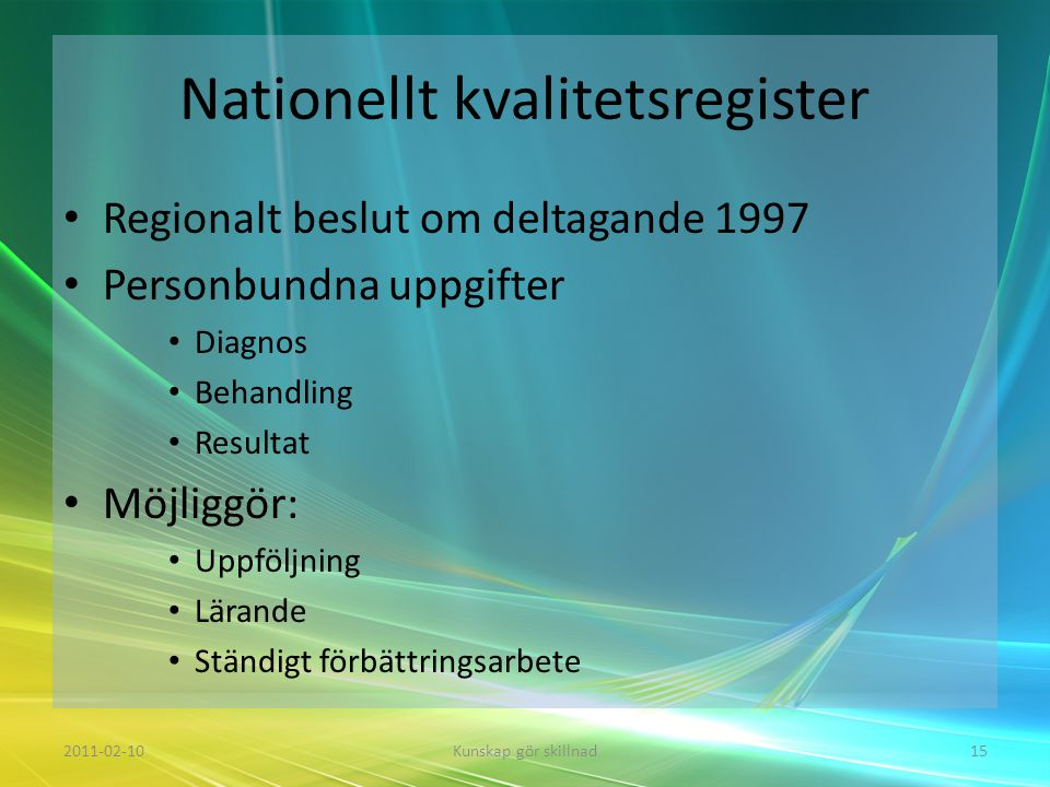 Nationellt kvalitetsregister
