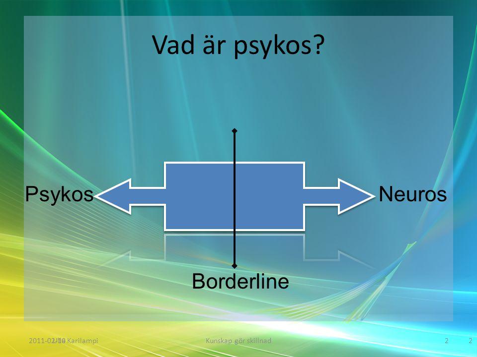 Vad är psykos Psykos Neuros Borderline Ulla Karilampi 2011-02-10